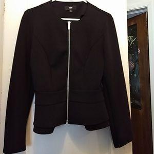Mossomino woman black zipper jacket